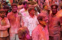Hindu men and women celebrating Holi festival Stock Photo