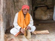 Hindu Mendicant Stock Photo
