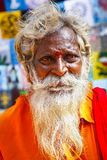 Hindu monk portrait Royalty Free Stock Images