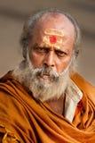 Hindu Monk at Varanasi Royalty Free Stock Photos