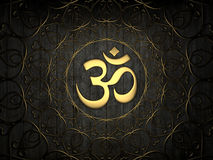 Hindu Om Icon Stock Photography