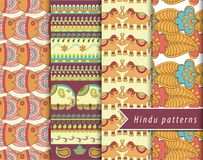 Hindu patterns set Royalty Free Stock Photos