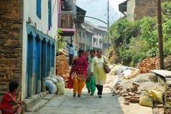 Hindu people in Banfipur village, Nepal Stock Image