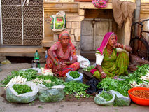 Hindu people in Indian market Stock Image