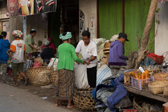 Hindu peoples at the traditional street market, Bali Royalty Free Stock Photography