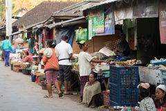 Hindu peoples at the traditional street market, Bali Stock Photos