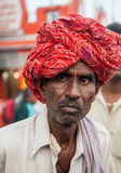 A Hindu Pilgrim in Haridwar, India. Stock Photo
