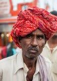 A Hindu Pilgrim in Haridwar, India. Stock Photo