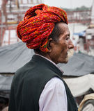 A Hindu Pilgrim in Haridwar, India. Stock Image