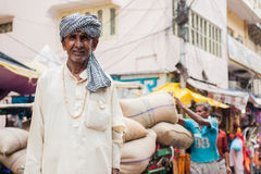 A Hindu Pilgrim in Haridwar, India. Royalty Free Stock Photos