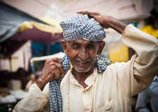 A Hindu Pilgrim in Haridwar, India. Royalty Free Stock Image
