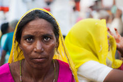 An Hindu pilgrim in Haridwar, India. Stock Photo