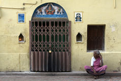 Hindu Pilgrim in Madurai Royalty Free Stock Photos