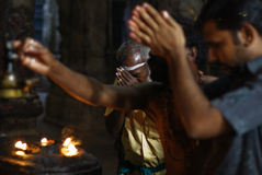 Hindu Pilgrims at Meenakshi Amman Temple Stock Photography