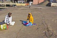 Hindu pilgrims Royalty Free Stock Photo