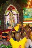 Hindu pilgrims and kavadi Stock Photography