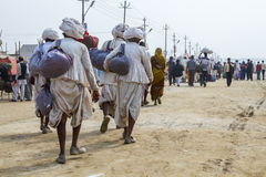 Hindu Pilgrims at the Kumbha Mela, India. Stock Photos