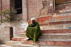 Hindu pilgrims in Varanasi Royalty Free Stock Images