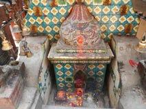 Hindu place of worship in Asan market, Kathmandu Stock Photo