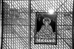 Hindu Poster. In Pushkar, India royalty free stock image