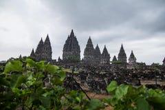 Hindu Prambanan-Tempel außerhalb Yogyakarta-Stadt Lizenzfreie Stockbilder