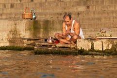Hindu prayer Stock Photos