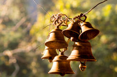 Free Hindu Prayer Bells In Remote Temple In Forest Stock Images - 81488084