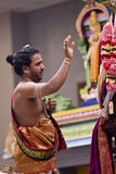 Hindu priest performs the pooja Stock Photos