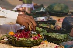 Hindu priest's hand during Shivaratri festival, Nepal Stock Photos