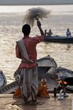 Hindu Priest At Varanasi royalty free stock photos