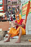 Hindu priest in Varanasi Royalty Free Stock Photos