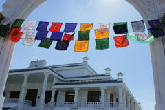 Hindu religion flag Stock Photo