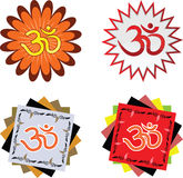 Hindu religion symbol OHM Royalty Free Stock Photos