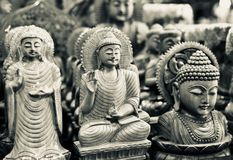Hindu religious God isolated wooden object unique photo Royalty Free Stock Images