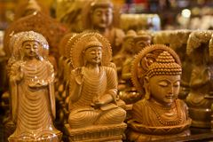 Hindu religious God isolated wooden object unique photo Royalty Free Stock Photos
