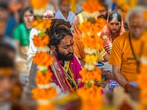 Hindu religious ritual Puja Royalty Free Stock Photography