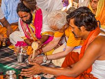 Hindu religious ritual Puja Royalty Free Stock Photos