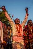 Hindu ritual Welcome goddesses Royalty Free Stock Photography