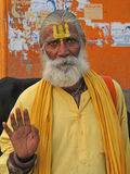 Hindu Sadhu gives blessings Royalty Free Stock Images