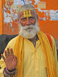 Hindu Sadhu gives blessings Royalty Free Stock Image