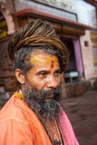 A Hindu Sadhu in Haridwar, India Stock Photo