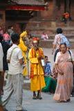 Hindu Sadhu man in Kathmandu, Nepal Stock Image