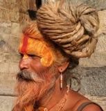 Hindu Sadhu. At the Pashupatinath Temple in Kathmandu, Nepal Stock Image