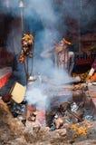 Hindu Sadhu smoking, Babughat, Kolkata Stock Images