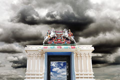 Hindu sanctuary gateway. Royalty Free Stock Images