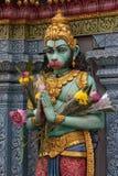 Hindu Sculpture. Singapore - Sri Krishna Hindu temple on Waterloo Street Stock Photography