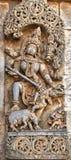 Hindu sculpture, Bellur, India Stock Photography