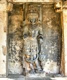 Hindu sculpture, Bellur, India royalty free stock photography