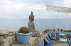 Hindu sculpture in outdoors bar Stock Photos