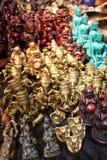 Hindu sculptures. A table full of hindu sculptures Royalty Free Stock Photos